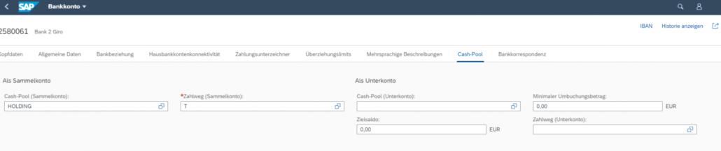 SAP Bankkonto